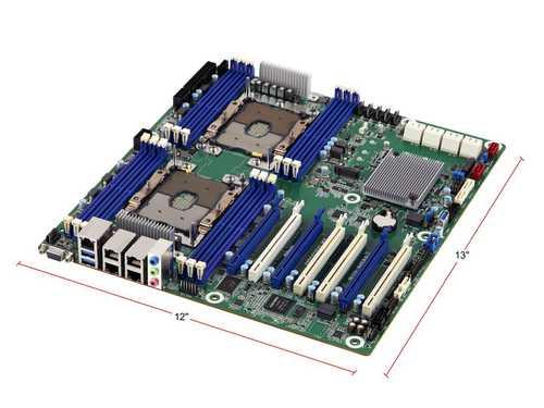 ASRock Rack EP2C621D12 WS EEB Server Motherboard LGA 3647 Intel C621