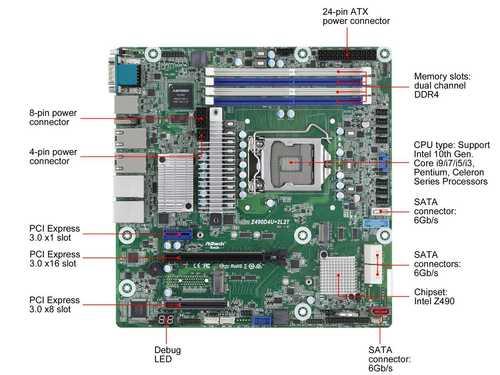 AsRock Rack Z490D4U-2L2T mATX Server Motherboard Intel 10th Gen. Core i9/i7/i5/i3, Pentium, Celeron Series Processors Z490