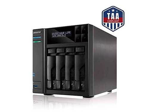 Asustor AS7004T-i5 | Network Attached Storage + Free exFAT License | 3.0GHz Quad-Core, 8GB RAM | Personal Private Cloud | Home or Business Data Media Server (4 Bay Diskless NAS)