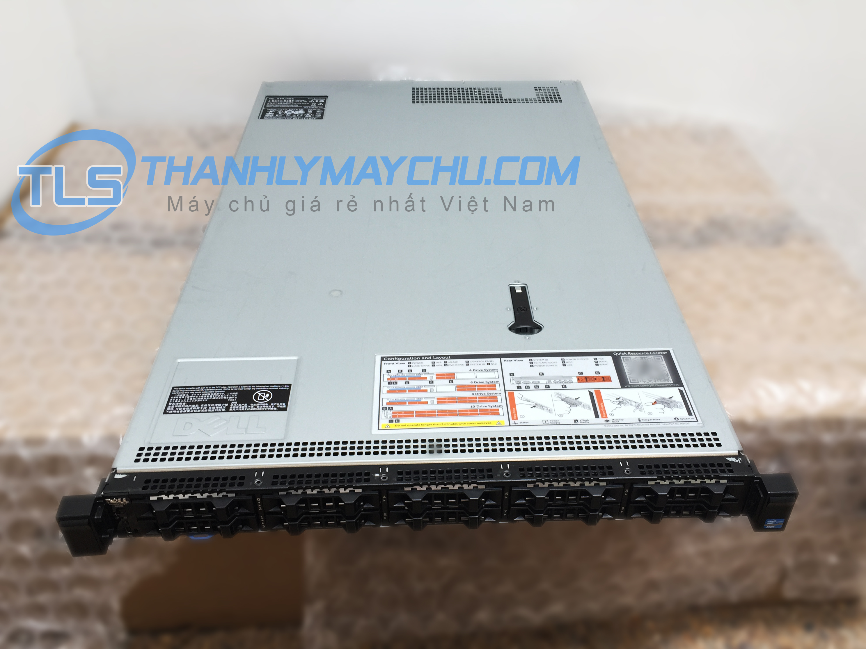 MÁY CHỦ DELL SERVER R620 10 TRAY HDD 2,5 IN