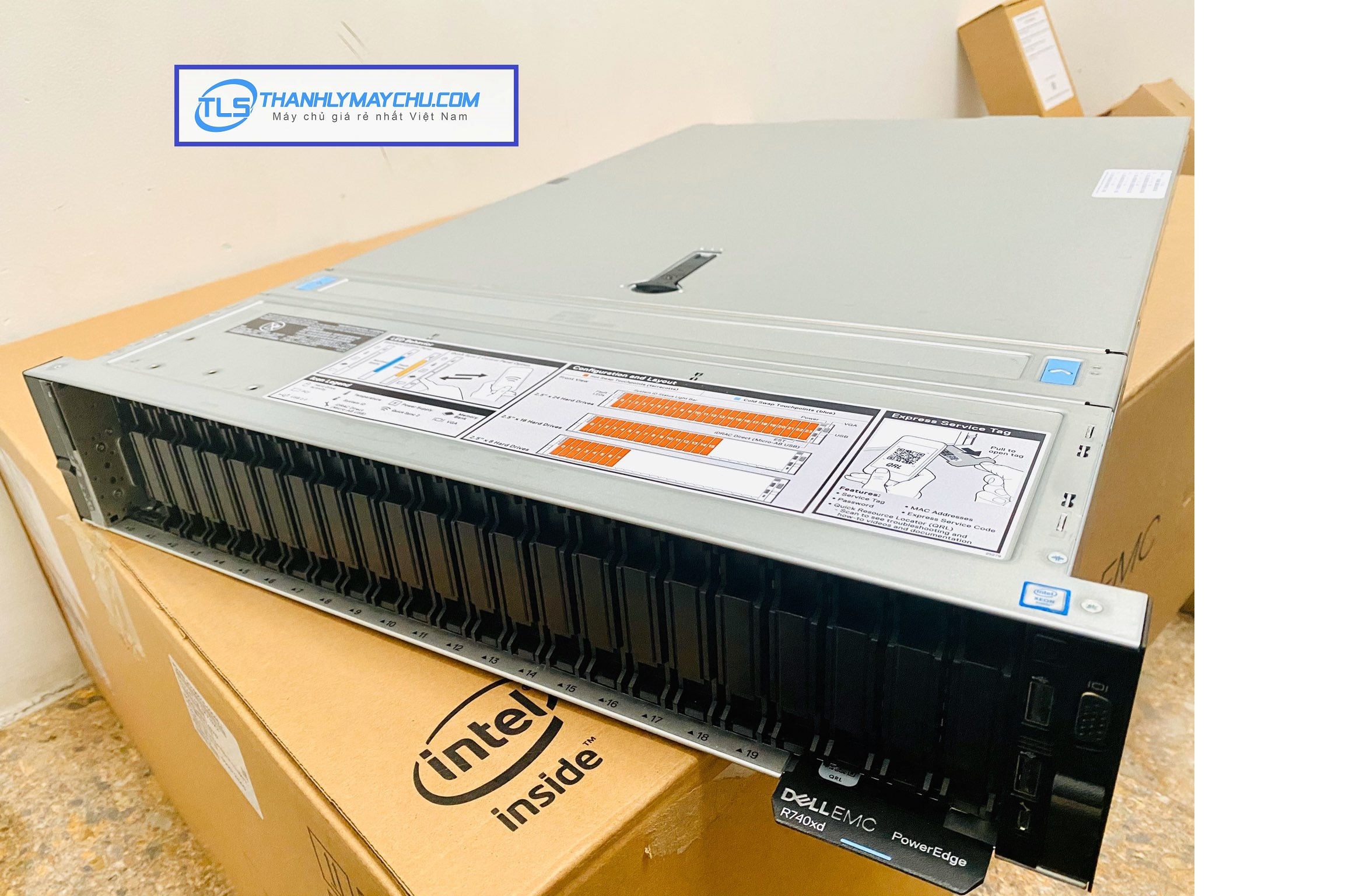 MÁY CHỦ DELL EMC POWEREDGE R740XD – 2.5 INCH